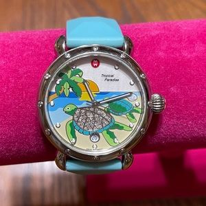 Michele Tropical Paradise Turtle Watch